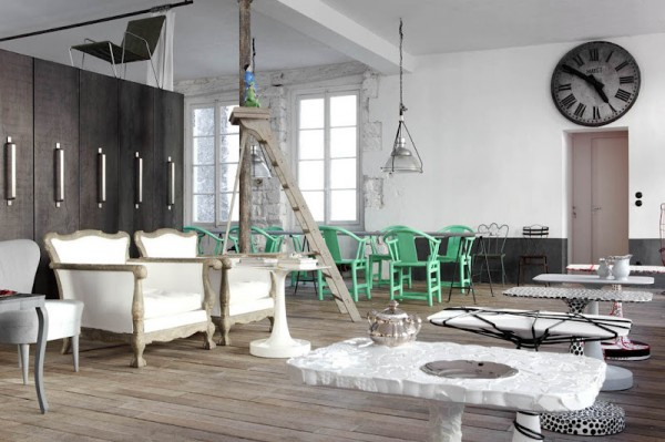 paola navone paris apartment 3 600x399 Paola Navones Parisian Apartment