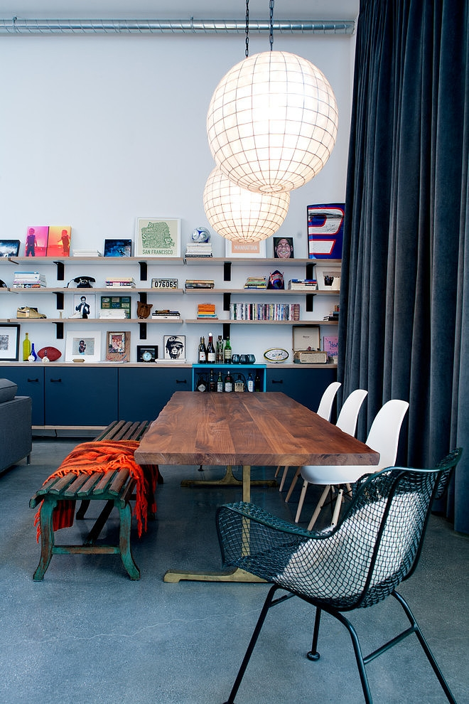 daleet spector design library Eclectic Trends A colorful retro and loft in California