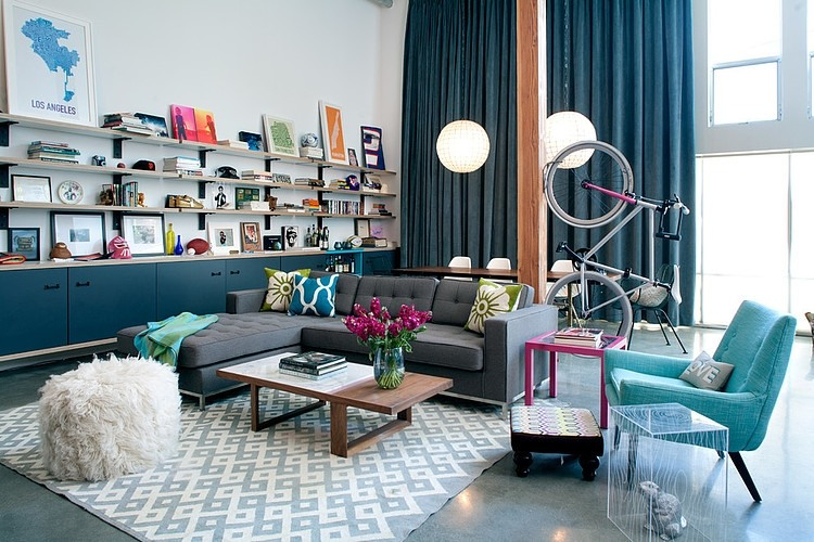 daleet spector design living Eclectic Trends A colorful retro and loft in California