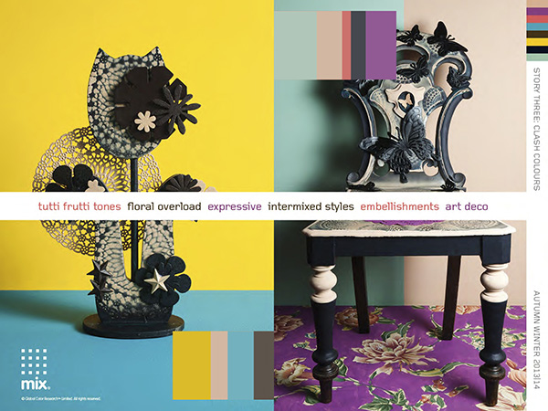 Color and pattern trends   Clash keywords 4 colour and pattern trends for Fall/Winter 2013/14