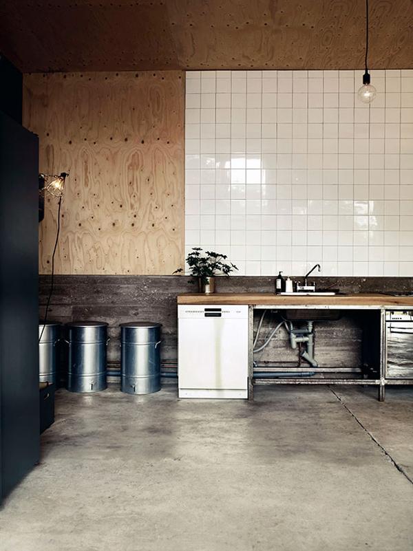 a former military garage_kitchen