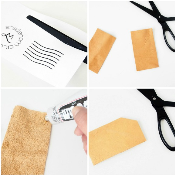 DIY-leather-tags-with-transfer-step1 to 4