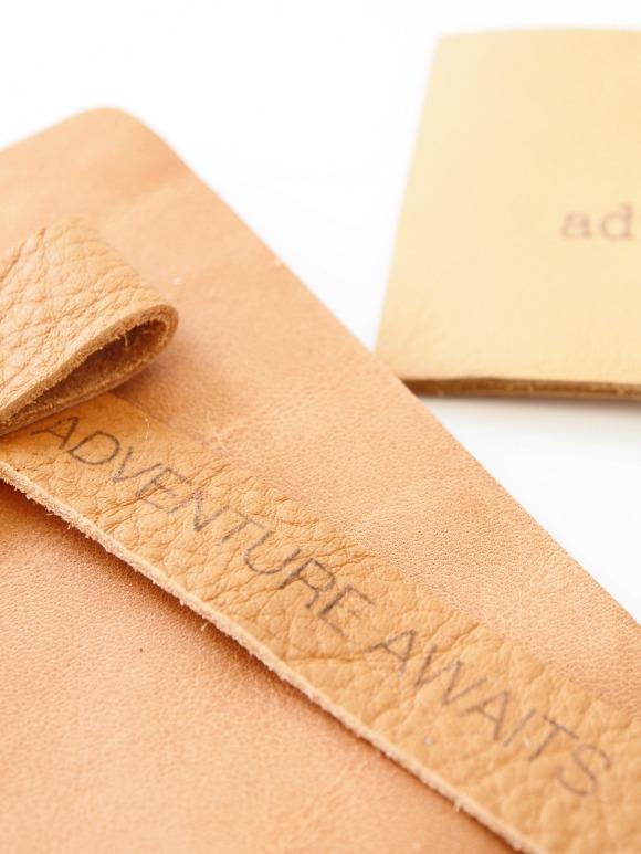 DIY leather tag