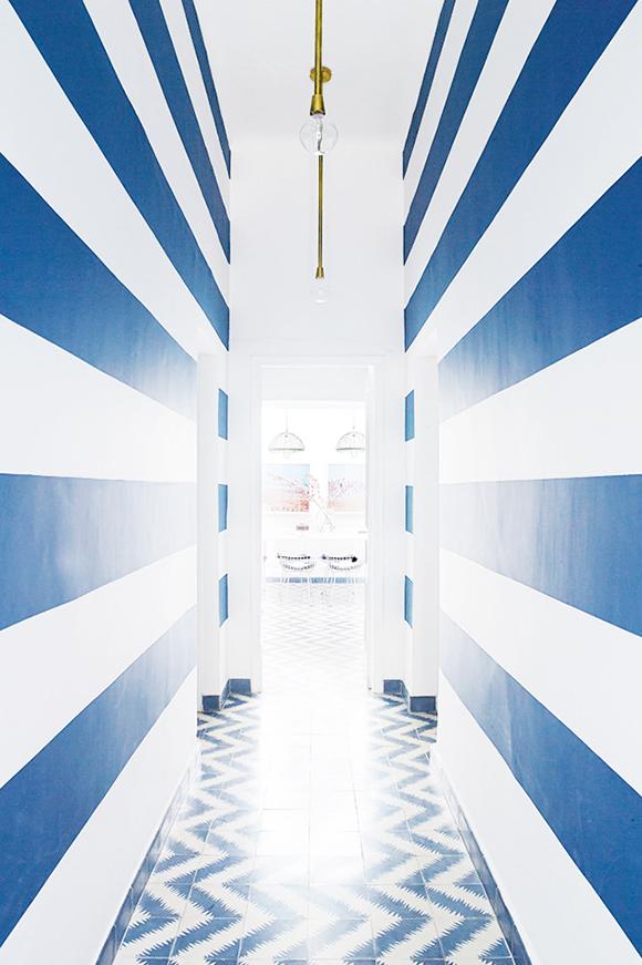 colorful Morroco home hallway
