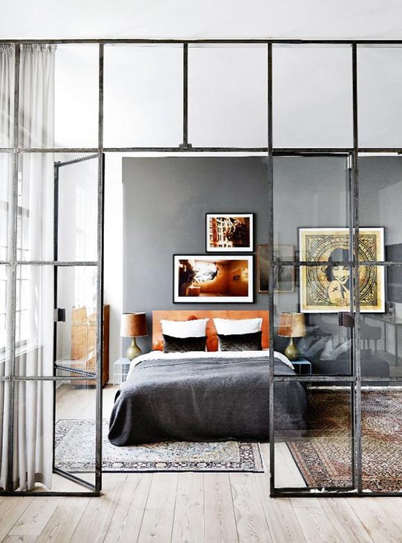 micro trend- black metal framed windows in copenhagen