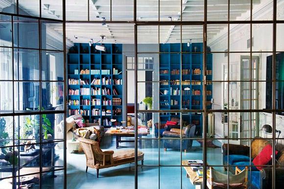 Eclectic trends it 39 s trending metal black framed room dividers eclec - Decoration bleu canard ...