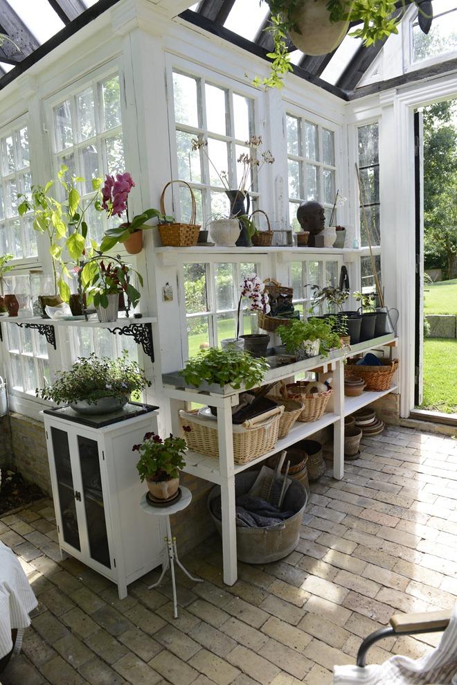 white green house
