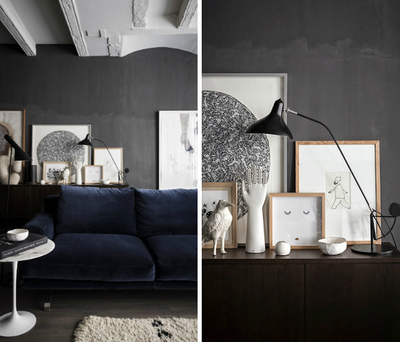 Eclectic Trends A Black Home In Lyon Eclectic Trends