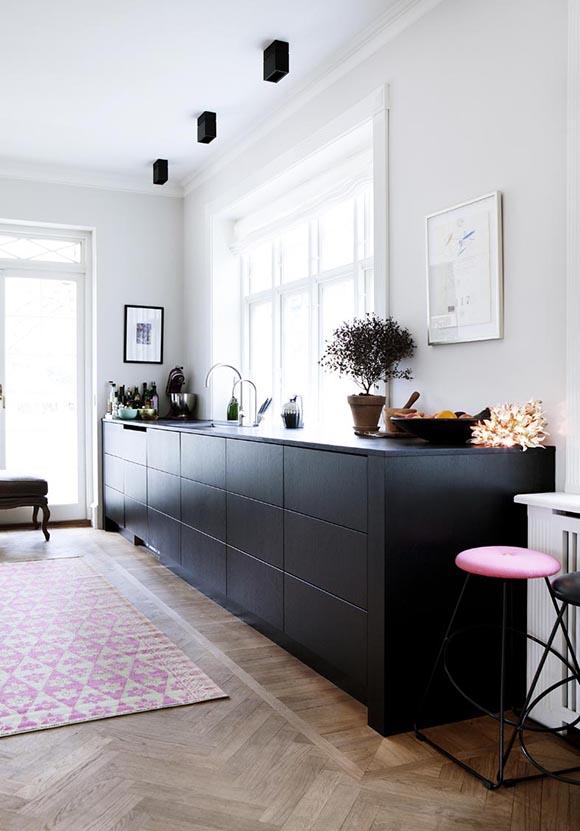 Black kitchen trend- Eclectic Trends