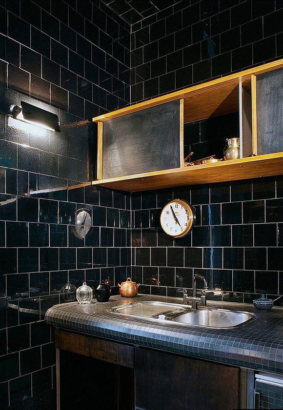 black kitchen trend - Eclectic Trends