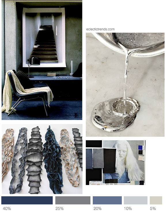 Color inspiration- combining blue shades and white metal - Eclectic Trends